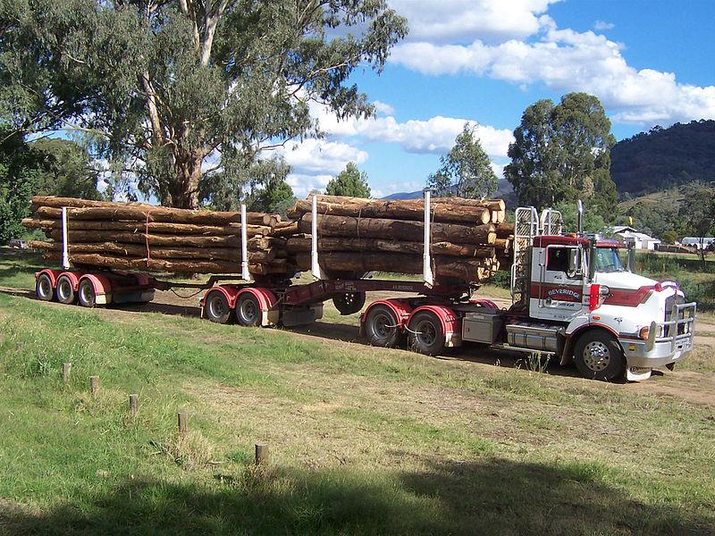A logging truck