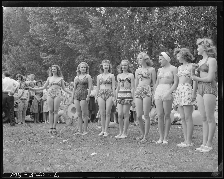 Some of the entries in the beauty contest. Price is center of coal mining activities for Utah. Price, Carbon County, Utah
